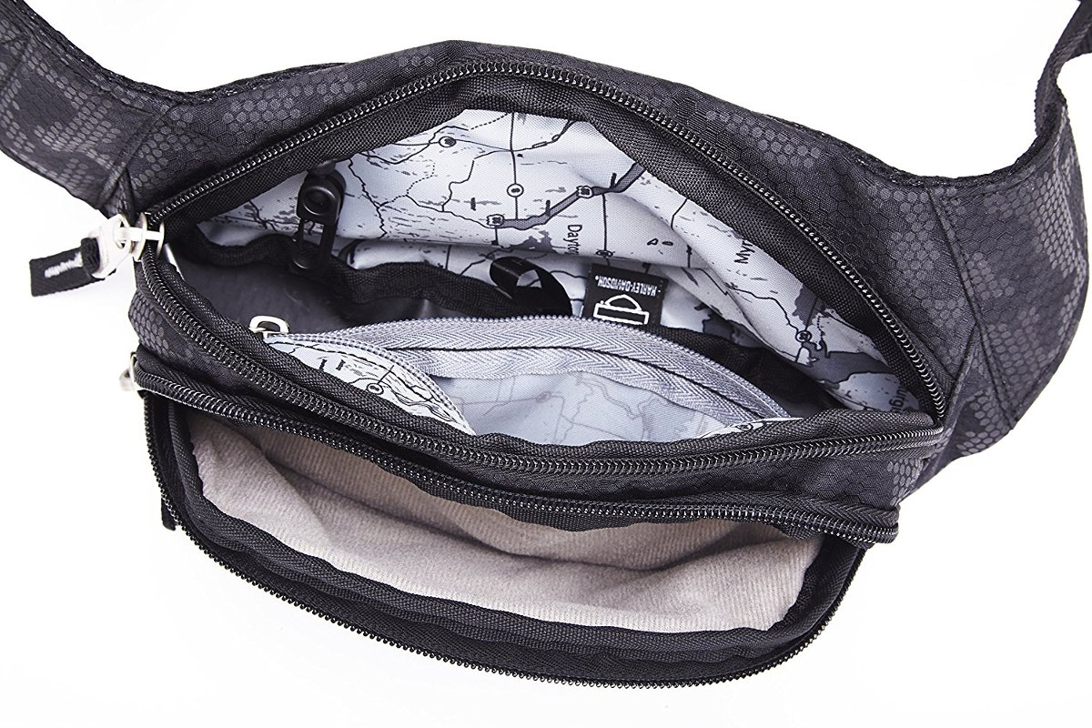 Taška Harley-Davidson® Men's Black Leather Toiletry Kit Bag 99609