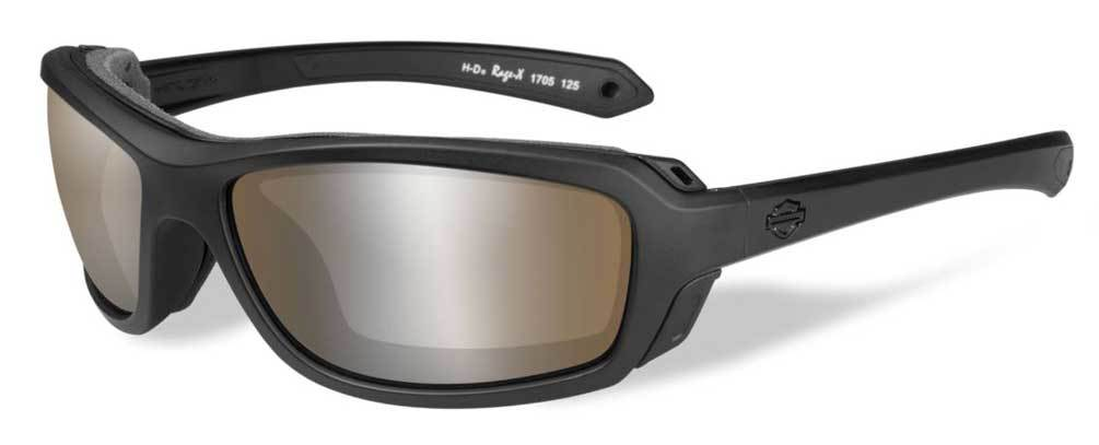 Harley-Davidson® Mens Rage PPZ Copper Flash Sunglasses, Matte Black Frame