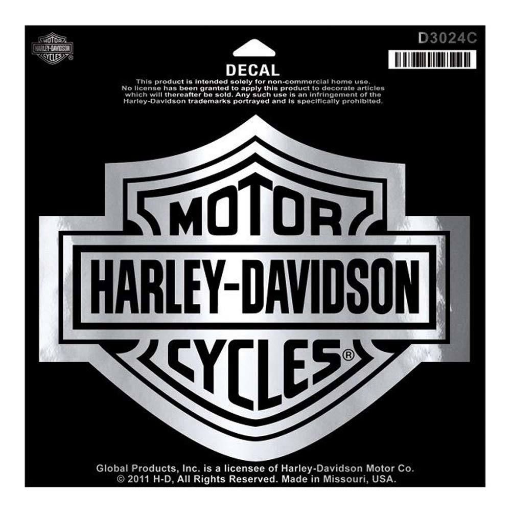 Harley-Davidson® Bar & Shield Chrome Large Decal, Large Size Sticker