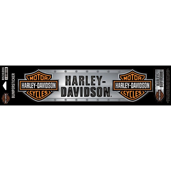 Harley-Davidson® Mens B&S Metal Plate Large & Small Bumpersticker