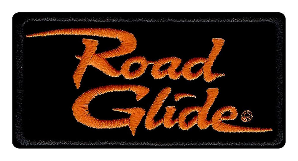Harley-Davidson® Embroidered Road Glide Emblem Patch, Small 4 x 2 in.