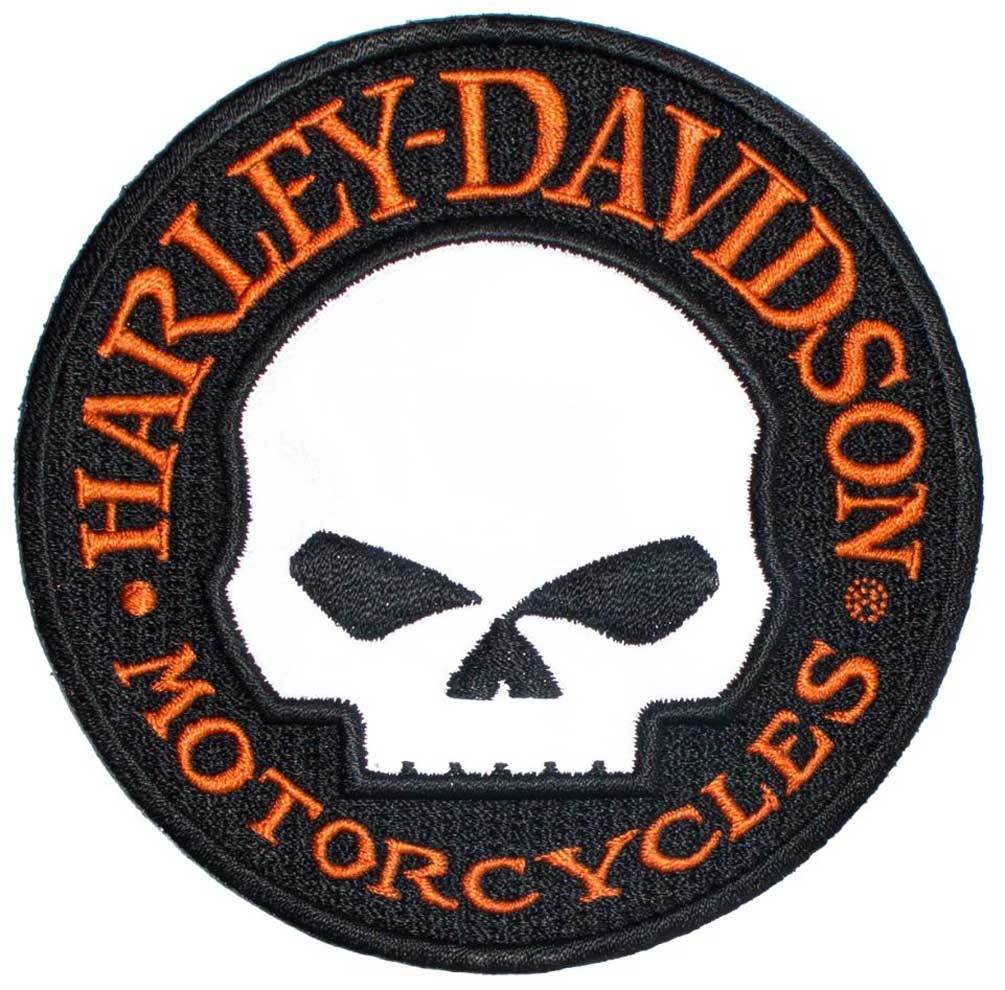 Harley-Davidson® Reflective Patch, Willie G. Skull Hubcap Emblem, Small