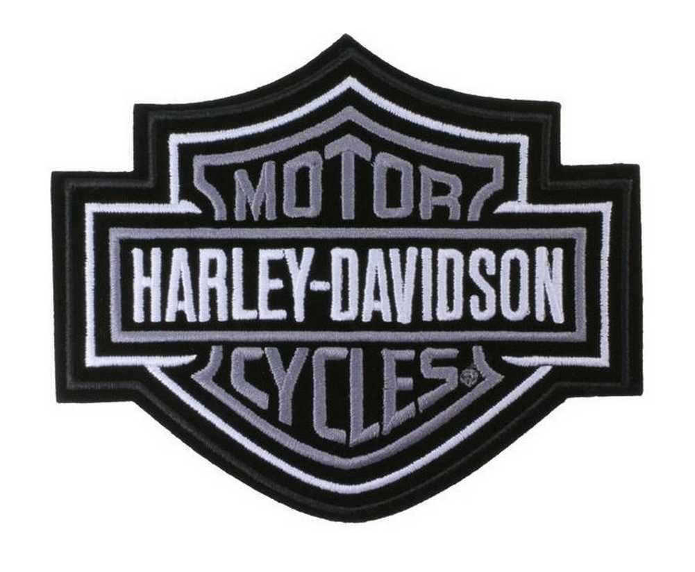 Harley-Davidson® Silver Bar & Shield Patch MD 5 5/8'' x 4 5/8''