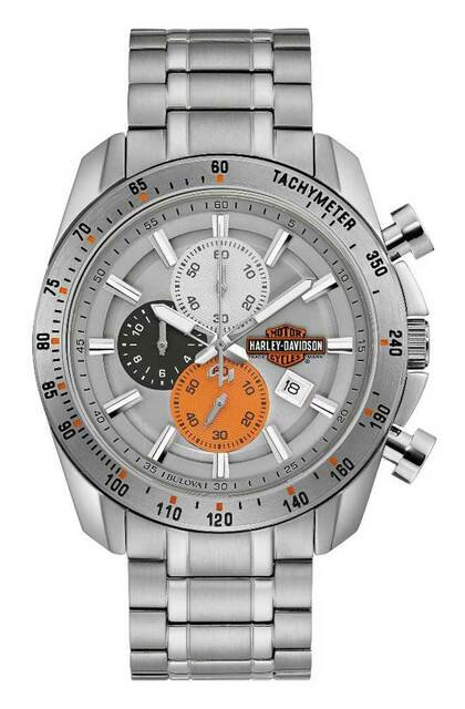 Harley-Davidson® Men's Vintage B&S Chronograph Stainless Steel Watch 76B186