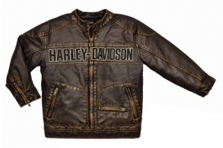 Harley-Davidson® Little Boys' Laundered P.U. Motorcycle Biker Jacket