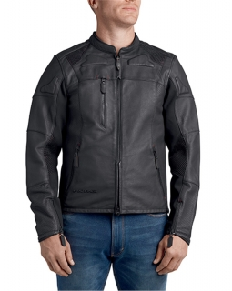 Men's Leather Jacket FXRG Perforated