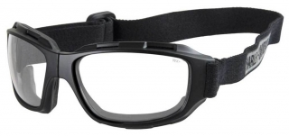 Harley-Davidson® Men's Bend Clear Lens Goggles, Collapsible Black Frames