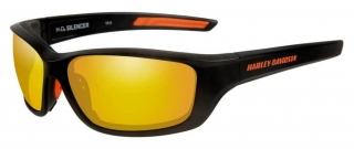 Harley-Davidson® Men's Silencer Sunglasses, Orange Lens/Matte Black Frame