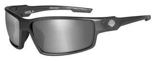 Harley-Davidson® HD Wolf Silver Flash Smoke Grey Lens in a Gunmetal Grey Frame Sunglasses by Wiley X®
