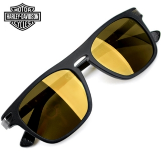 Harley-Davidson® Matte Black/ Gold Mirrored Lens