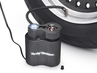 Harley-Davidson® Motorcycle Compact Air Compressor w/ Light & Air Hose
