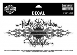 Harley-Davidson® Signature Glitter Decal, Size XL 8.125 x 3.625 inches