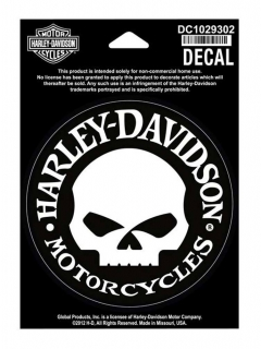 Harley-Davidson® Hubcap Skull Small Decal, 4'' W x 4'' H
