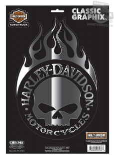 Harley-Davidson® Classic Graphix™ Willie G Skull Decal