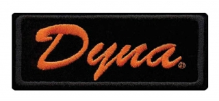Harley-Davidson® Embroidered Dyna Emblem, SM Size, 4.125 x 1.75 inches