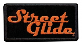 Harley-Davidson® Embroidered Street Glide Emblem Patch, Small 4 x 2 in.