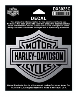 Harley-Davidson® Bar & Shield Medium Size Chrome Decal
