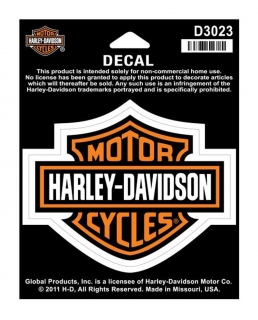 Harley-Davidson® Bar & Shield Medium Decal, 3-15/16'' W x 3-1/8''