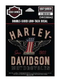 Harley-Davidson® RWB #1 Double-Sided Low-Tack Decal, SM Size, 4 x 4 in