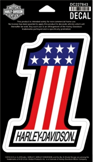 Harley-Davidson® Red, White & Blue #1 Decal