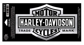 Harley-Davidson® Long Bar & Shield Decal Chrome , Large Size