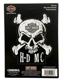 Harley-Davidson® Skull & Crossbones Stick Onz Decal Set, 6 x 8 inches