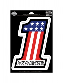 Harley-Davidson® #1 RWB X-Large Decal