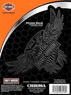 Harley-Davidson® Bar & Shield On Eagle Chrome Decal