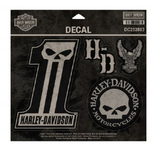 Harley-Davidson® Dark Custom Decals, MD 5 Per Sheet, 4 x 5.5 inches