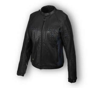 Motocyklová bunda Women´s H-D® Moto Nashua Mesh & Perforated Leather Jacket 97046-19EW