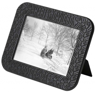 Harley-Davidson® Tire Tread Picture Frame - Holds 5x7 Photo, Black