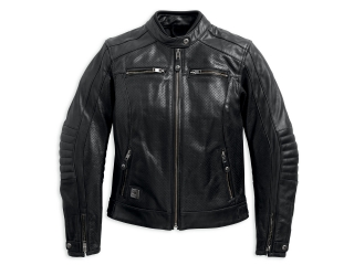 Motocyklová bunda Women´s H-D® Genuine Motorclothes Epic Perforated Leather Jacket 97184-17EW