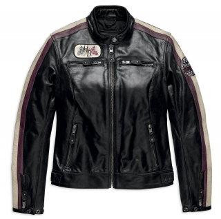 Motocyklová bunda Women´s H-D® Genuine Motorclothes Almena CE-Certified Leather Jacket 97005-18EW