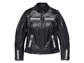 Motocyklová bunda Women´s H-D® Genuine Motorclothes Zarda Perforated Leather Jacket 97012-18EW