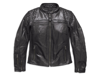 Motocyklová bunda Women´s H-D® Genuine Motorclothes Leather Jacket Chic EC black 97199-18EW