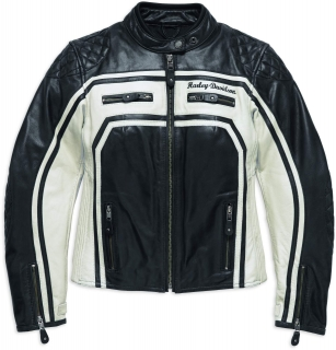 Motocyklová bunda Women´s H-D® Genuine Motorclothes Relay Leather Jacket EC 98130-17EW