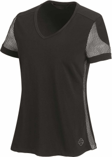 Tričko Women´s H-D® Moto T-Shirt 3D Mesh Accent black 99235-19VW