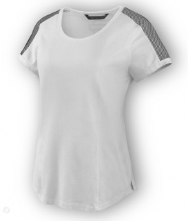 Tričko Women´s H-D® Moto T-Shirt 3D Mesh Accent White 96612-19VW