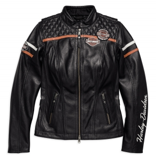 Motocyklová bunda Women´s H-D® Genuine Motorclothes Leather Jacket Miss Enthusiast CE 98030-18EW