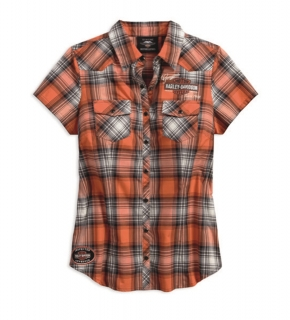 Košeľa Women´s H-D® Genuine Motorclothes Plaid Shirt Genuine Oil Can 99071-18VW
