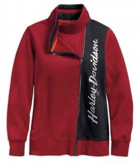 Mikina Women´s H-D® Genuine Motorclothes Casual Biker Zip Fleece Activewear Jacket, Red 96391-19VW