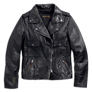 Dámska bunda Women´s H-D® 1903 Wild Distressed Leather Biker Jacket, Black 98017-18VW