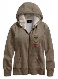 Mikina Women´s H-D® 1903 Sherpa Fleece Lined Hoodie 96373-19VW 96373-19VW
