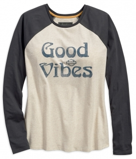 Tričko Women´s H-D® Garage Good Vibes Baseball Tee 96245-18VW