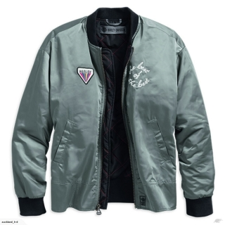 Bunda Women´s H-D® Garage Bomber Jacket Satin Gray 97475-19VW