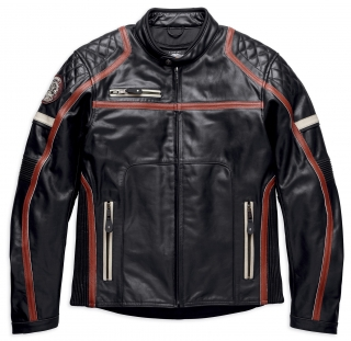 Motocyklová bunda Men's H-D® Genuine Motorclothes Maytor Leather Jacket 97016-19EM