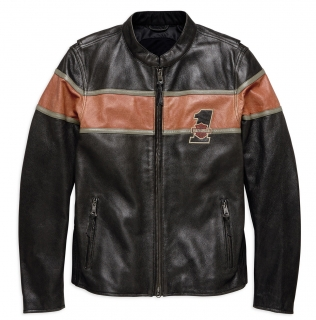 Motocyklová bunda Men's H-D® Genuine Motorclothes Victory Lane Leather Jacket CE 98027-18EM