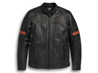 Motocyklová bunda Men's H-D® Genuine Motorclothes Leather Jacket Vanocker Waterproof 98000-20EM