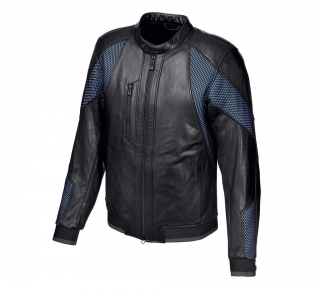 Motocyklová bunda Men's H-D® Moto Woodway Mesh & Leather Jacket 97041-19EM
