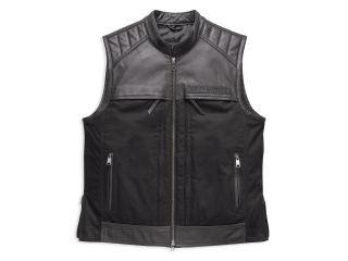 Vesta Men's H-D® Genuine Motorclothes Synthesis Pocket System Leather/Textile Vest 98120-17VM